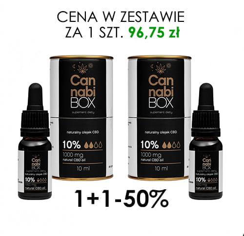 PROMOCJA Olejek CBD Cannabibox 10% 1+1-50%